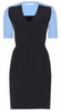 VICTORIA BECKHAM - Navy Crepe Dress - Designer Dress hire