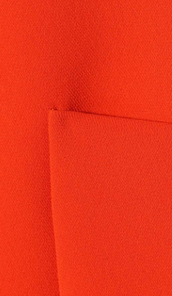 VICTORIA BECKHAM - Orange Zest Silk Dress - Designer Dress hire