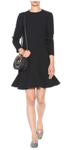 VICTORIA BECKHAM - Flirty Ruffle Mini Dress - Designer Dress hire
