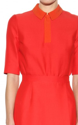 VICTORIA BECKHAM - Red Cady Dress - Designer Dress hire