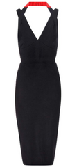 VICTORIA BECKHAM - Red Strap Dress - Designer Dress Hire
