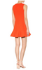 VICTORIA BECKHAM - Orange Ruffle Crepe Dress - Designer Dress hire