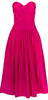 VINTAGE - Magenta Cocktail Dress - Designer Dress hire