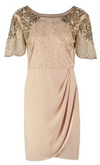 VIRGOS LOUNGE - Millie Nude Cocktail Dress - Rent Designer Dresses at Girl Meets Dress