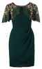 QUIZ - Navy Satin Knot Fishtail Dress - Designer Dress hire