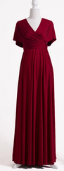 WILLOW & PEARL - Willow Multiway Claret Dress - Designer Dress Hire