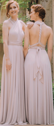 WILLOW & PEARL - Willow Multiway Blush Dress - Designer Dress hire