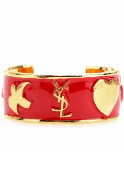 YVES SAINT LAURENT - Ycons Enamel Cuff - Designer Dress hire