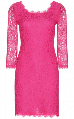 DIANE VON FURSTENBERG - Zarita Lace Dress Fuchsia - Designer Dress hire