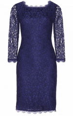 DIANE VON FURSTENBERG - Zarita Lace Dress Navy - Rent Designer Dresses at Girl Meets Dress