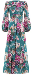 ZIMMERMAN - Allia Floral Linen Dress - Designer Dress Hire
