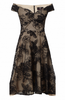 QUIZ - Black Sequin Fishtail Gown - Designer Dress hire