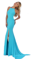 SHERRI HILL - Emilie Turquoise Dress - Designer Dress Hire