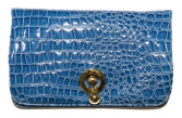 WILBUR AND GUSSIE - Harriet Clutch Blue - Designer Dress Hire