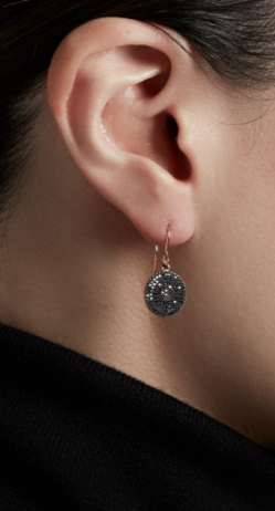 ASTLEY CLARKE - Icon Black Diamond Earrings - Designer Dress hire
