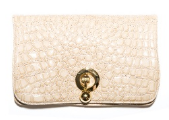WILBUR AND GUSSIE - Harriet Clutch Caramel - Designer Dress hire