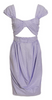 CARVEN - Striped Cut Out Dress - Designer Dress hire