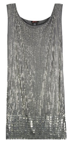 Metal Paillette Dress