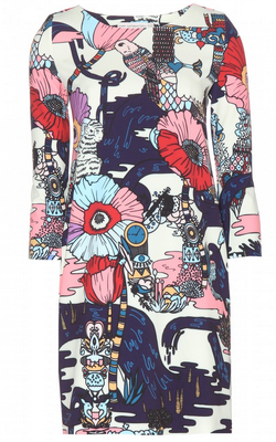 MARY KATRANTZOU - Margo Printed Dress - Designer Dress hire