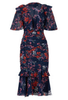 QUIZ - Berry Embroidered Bardot Gown - Designer Dress hire