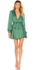 VICTORIA BECKHAM - Wrap Linen Dress - Designer Dress hire