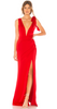 BADGLEY MISCHKA - Asymmetrical Twist Gown - Designer Dress hire