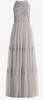 ADRIANNA PAPELL - Beaded Long Ivory Dress - Designer Dress hire