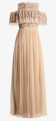 MAYA - Makina Cold Shoulder Gown - Designer Dress Hire