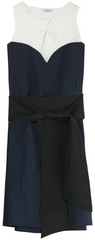 MIU MIU - Colour Block Belted Dress - Designer Dress Hire