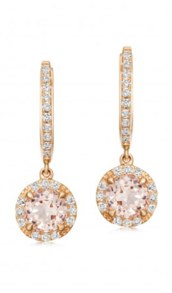ASTLEY CLARKE - Morganite and Diamond Drop - Designer Dress hire