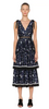 Self Portrait - Tiered Star Midi Dress - Designer Dress hire