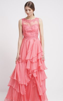 UNIQUE - Mabel Melon Gown - Designer Dress hire