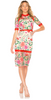 Self Portrait - Floral Cold Shoulder Dress - Designer Dress hire