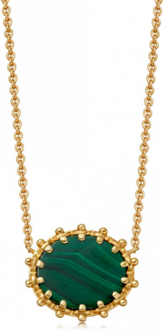 ASTLEY CLARKE - Malachite Floris Necklace - Designer Dress hire
