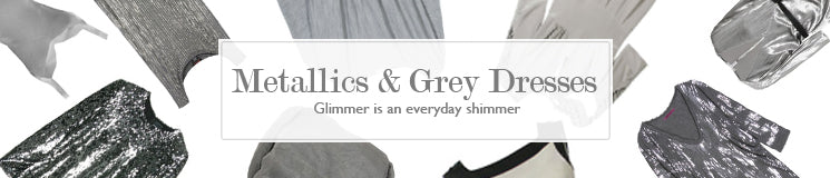 Hire Metallic and Grey Dresses for your upcoming events