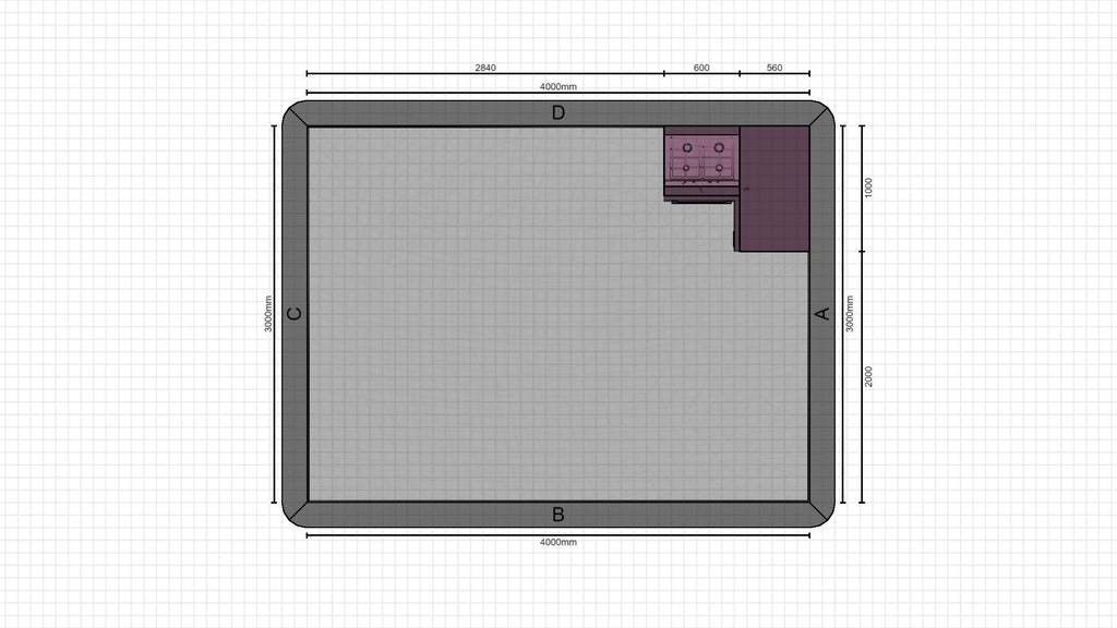 Individual kitchen planning from 09-02-2021, 14:35:52