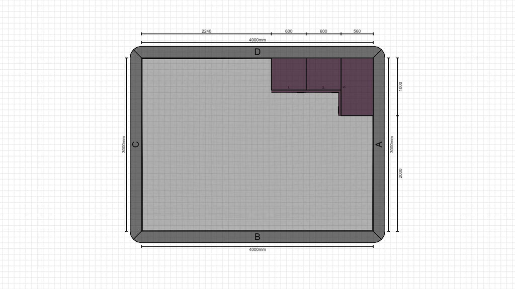 Individual kitchen planning from 23-02-2021, 08:53:25