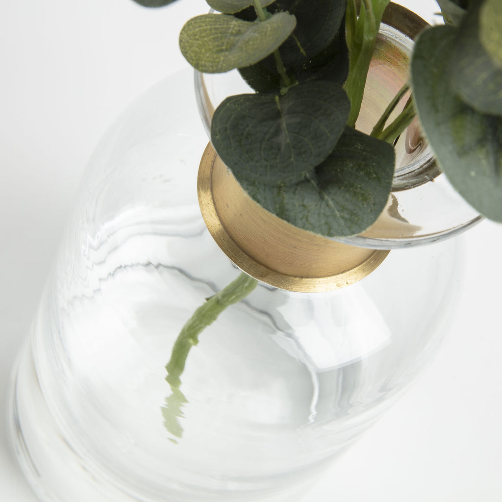 Clear Glass Vase 27cm