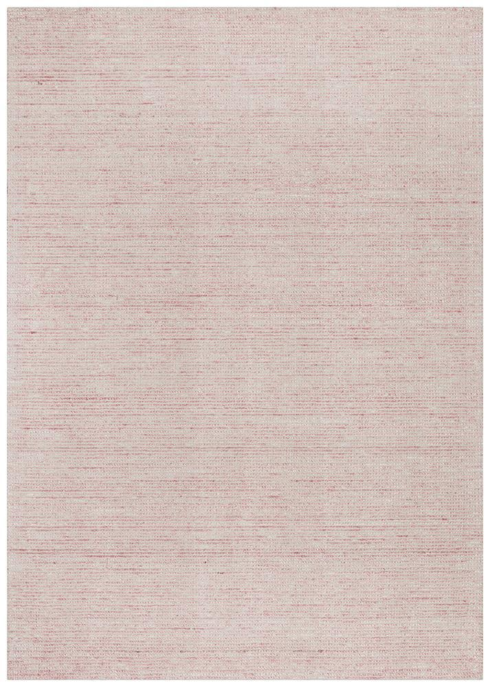 Hand Loomed Rose Scandi Cotton Rayon Pink Rug