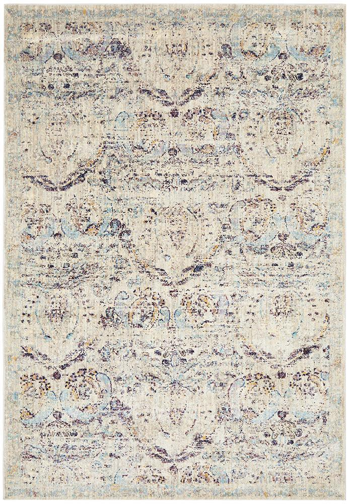 Anastasia Egypt Traditional Silver Rug