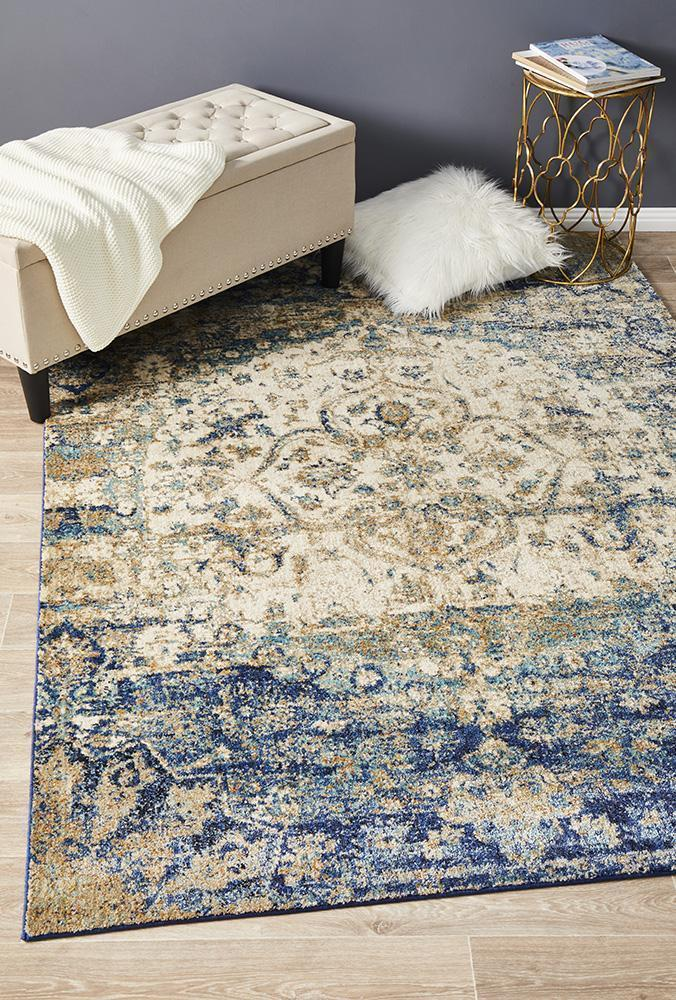 Anastasia Traditional Blue Rug
