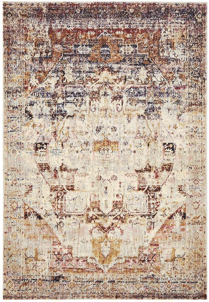 Anastasia Multi Brown & White Rug