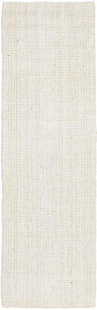 Handcrafted Woven Bleach White Runner Rug