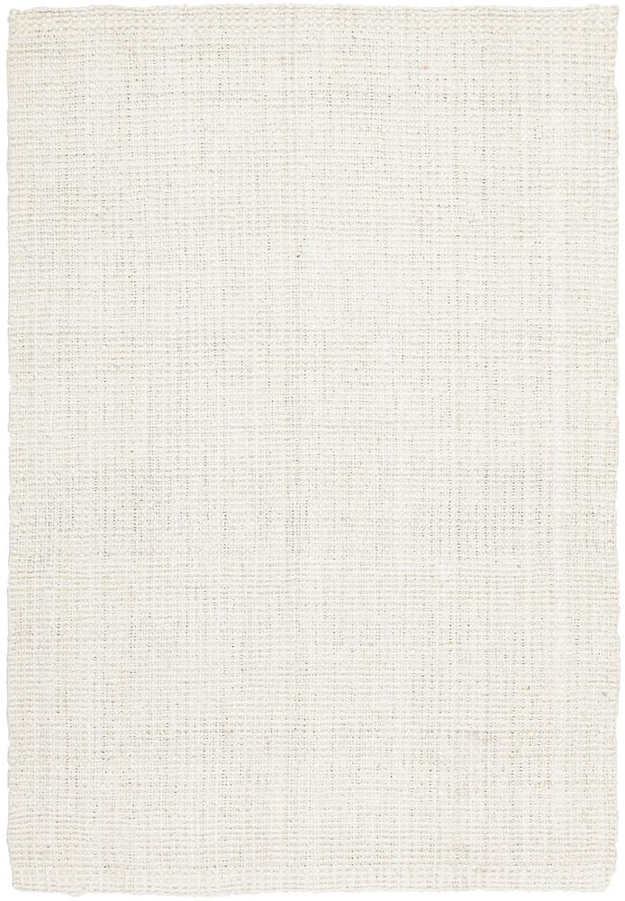 Handcrafted Woven Bleach White Jute Rug