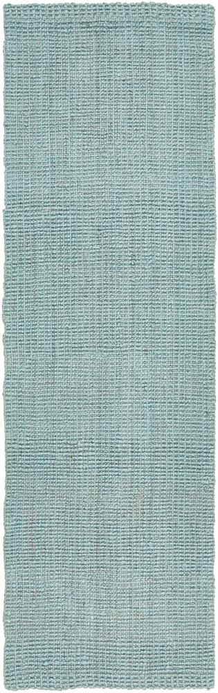 Handcrafted Woven Sea Blue Jute Runner Rug