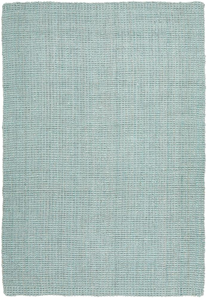 Handcrafted Woven Sea Blue Jute Rectangle Rug