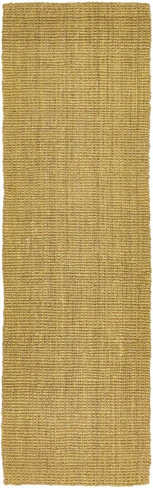Handcrafted Woven Green Jute Runner Rug