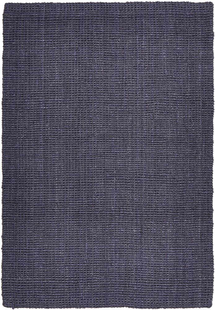 Handcrafted Woven Navy Jute Rectangle Rug
