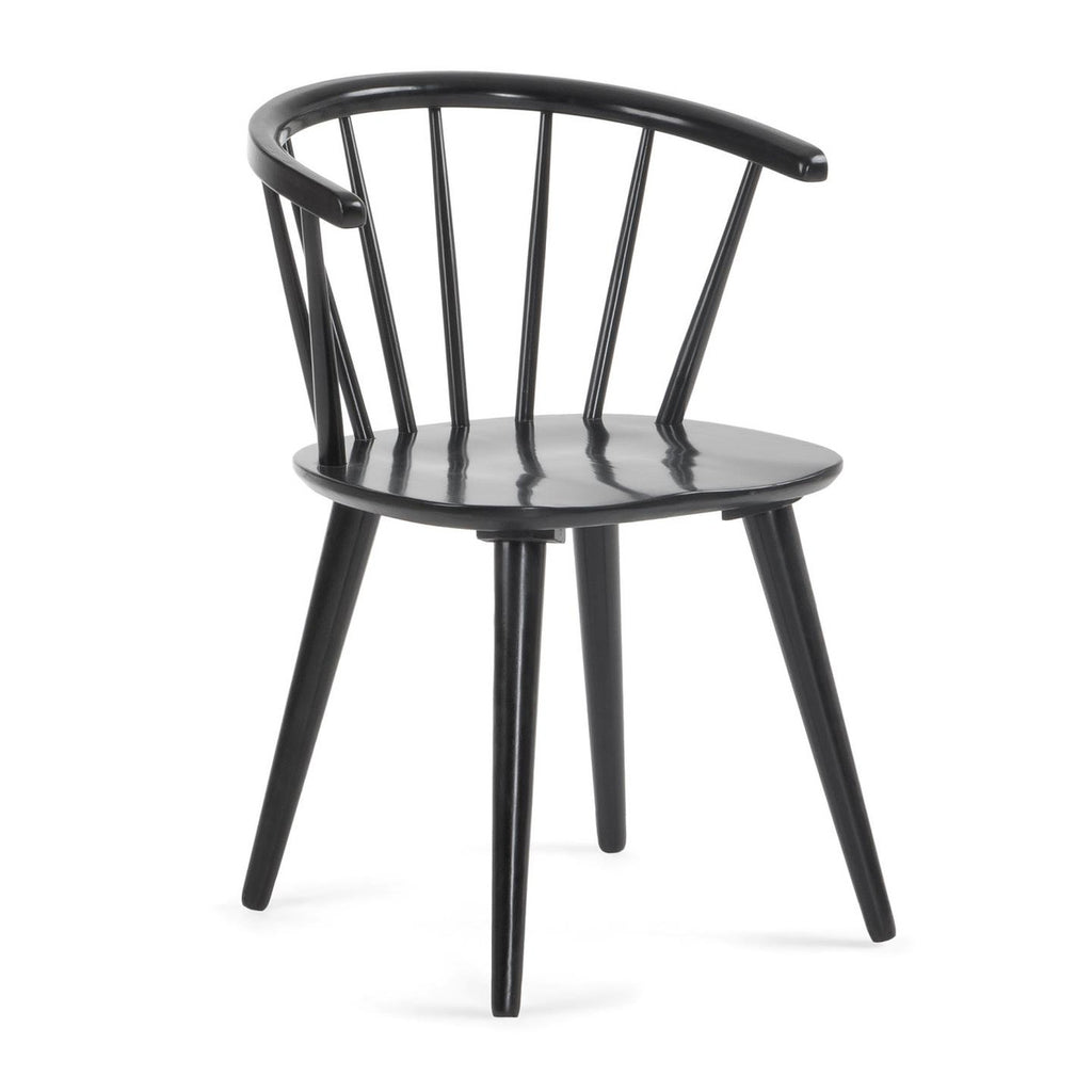 Krise - Timber & Black Dining Chair