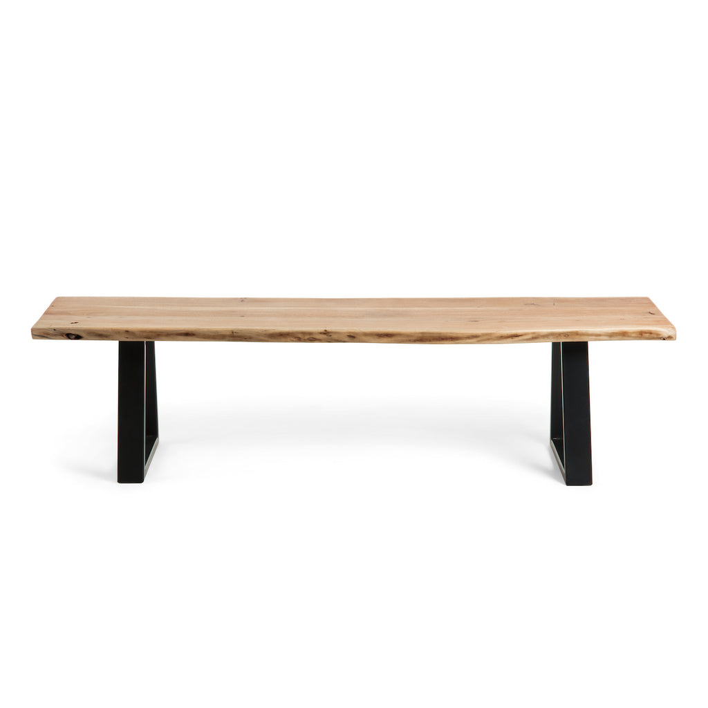 Bench - Black Acacia Natural